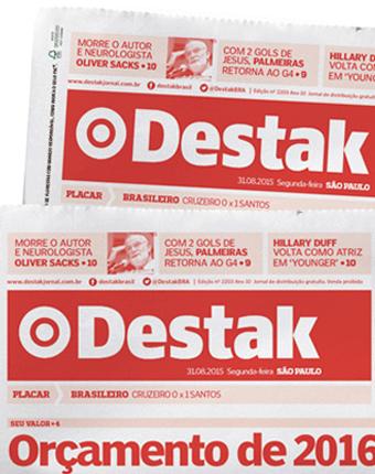 Destak  Vermelho é Destak.